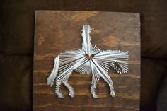 Horse/Mule String Art  Customized Other animals by bcalkins2012, $35.00