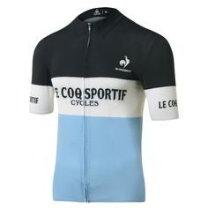 Buy your Le Coq Sportif Ares Short Sleeve Jersey - Jerseys from Wiggle. Cycling Wear, Cycling Jerseys, Cycling Bikes, Cycling Outfit, Cycling Clothes, Road Cycling, Cycle Chic, Jersey Retro, Bike Equipment
