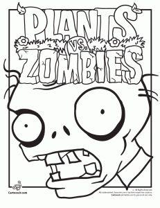 Plants Vs. Zombies Coloring Pages   Cartoon Jr.