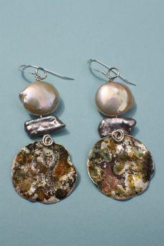 Lisa Ben-Zeev    Circle Earrings $98.00 Circle Earrings, Pearl Earrings, Drop Earrings, Jewelry Art, Lisa, Necklaces, Jewels, Pearl Studs, Bijoux