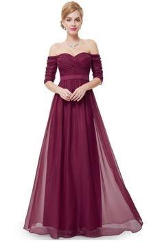 Beautiful Prom Dress, charming burgundy chiffon prom dress woman maxi dress long dress woman dress for prom special occasion dress formal dress for weddings and events Meet Dresses Elegant Bridesmaid Dresses, Prom Dresses 2017, Prom Dresses With Sleeves, Formal Dresses For Weddings, Wedding Dresses, Dress Prom, Gown Dress, Chiffon Dress, Summer Dress