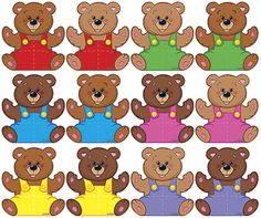 CLASSIC ACCENTS MINI BEARS VARIETY PK - These little accents offer big variety and value! Choose Mini Accents Variety Packs for learning activities such as patterning and sequencing, place on calendars to mark special days and events, or add a special tou Graphing Activities, Color Activities, Classroom Charts, 2 Clipart, Picnic Birthday, Teddy Bear Day, Teddy Bears, Teaching Colors, Color Games