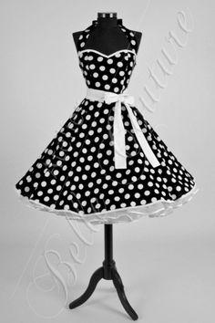 Petticoatkleid schwarz/weiß Art.: 3704