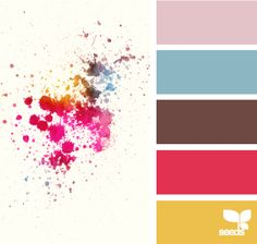 adore these happy colors  'ink spots'