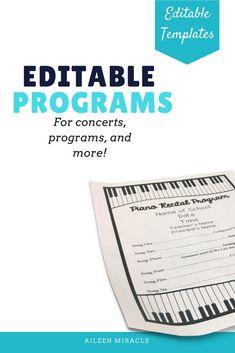 Band Concert Program Black And White Uil Music  Concert Programs