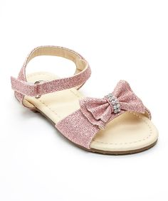 Love this Florecita Pink Rhinestone Bow Nina Sandal by Florecita on #zulily! #zulilyfinds