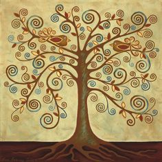 'Tree of Life' Acrylic Painting by Lisa Frances Judd ~ QuirkyHappyArt Tree Of Life Painting, Tree Of Life Art, Tree Of Life Pictures, Tree Of Life Symbol, Picture Tree, Rock Painting Ideas Easy, Paint Ideas, Painted Rocks Kids, Painting Inspiration