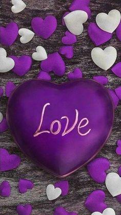 My heart is purple. Purple Love, All Things Purple, Shades Of Purple, Purple Hearts, Heart Wallpaper, Love Wallpaper, Iphone Wallpaper, Beautiful Love, Cute Love