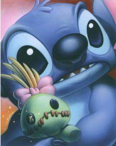Stitch e Scrump.  Só eu acho o Stitch uma graça?  No fundo, ele tem o coração tão grande *-*