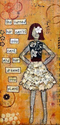 Dreams into plans quote via www.Facebook.com/SilentHymns