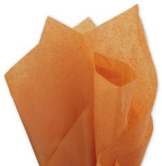 Solid Tissue Paper Burnt Orange 20 x 30 • 480 sheets of solid color tissue paper per ream • Machine glaze finish • Contains on average 60% post-industrial and 10% post-consumer recycled content • Recyclable • Made in the USA