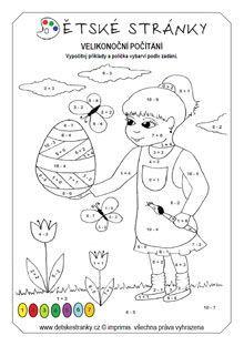 Výsledek obrázku pro pracovní list  matematika 1. ročník, Velikonoce Math Activities, Snoopy, 1, Desktop, Fictional Characters, Number, Recipes, Color, Pink