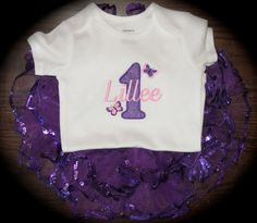 Personalized Butterfly Garden Fairy Birthday tutu and shirt set