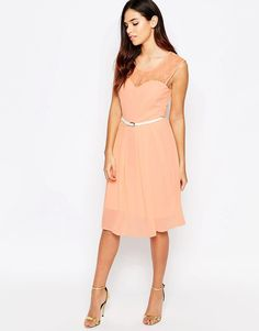 Jasmine+Midi+Dress+With+Lace+Top
