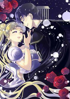 Sailor Moon - Mamoru Chiba x Usagi Tsukino - MamoUsa Sailor Pluto, Sailor Moon Y Darien, Sailor Moom, Sailor Moon Fan Art, Sailor Moon Usagi, Sailor Jupiter, Sailor Moon Crystal, Princesa Serena, Millenium