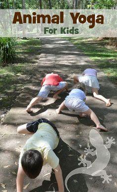 Animal Yoga. Great active, outdoor or indoor activity.