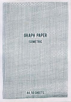 Hand drawn graph pads by Louise Naunton Morgan