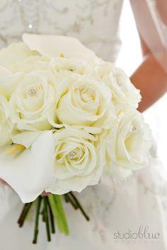 Simple, yet elegant, white roses