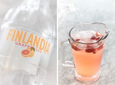 Finlandia grapefruit vodka is a perfect ingredient for my Grapefruit Rosé Sangria pitcher Citrus Sangria Recipe, Sangria Recipes, Drinks Alcohol Recipes, Drinks Med Gin, Vodka Cocktails, Summer Cocktails, Sangria Pitcher, Rose Sangria, Grapefruit Vodka