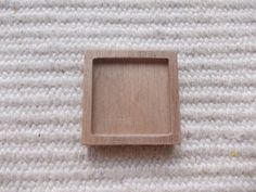 1pc unfinished squareshaped ash pendant by MagicWoodenJewel