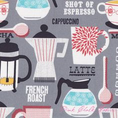michael miller fabrics french roast grey