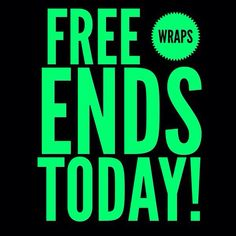 #BOGO WRAPS ENDS TONIGHT-Its Over 4/21!! www.facebook.com/WrapitupJazzy www.WrapitupJazzy.com