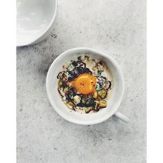 Baking this eggy with miso cream  sautéed veg  by topwithcinnamon
