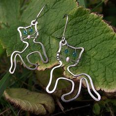 cat - wire earrings