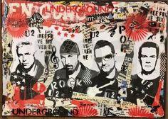 U2 portrait. Pop