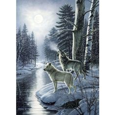 My favorite source for arts and crafts:  Wolves By Moonlight Jigsaw Puzzle