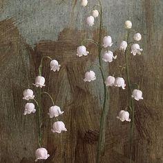 Ландыш, один из самых волшебных маленькие цветы. Они как заколдованные капли. Так счастлив, наконец, получить шанс, чтобы нарисовать их! Если только я мог бы написать аромат... #lilyofthevalley #paintingspring #arcadiacontemporary #floralpainting @arcadiagallery
