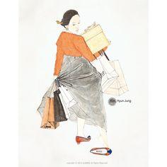 [Pann] Seoul University student illustrates the hanbok in modern society ~ Netizen Buzz Korean Art, Asian Art, Illustrations, Illustration Art, Art Alevel, Korean Painting, Figure Painting, Traditional Art, Traditional Clothes
