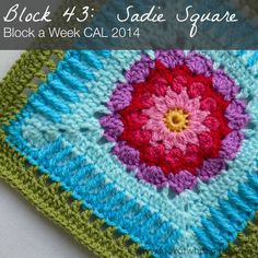 Block 43: Sadie Square by Melissa Green. Not her idea, but Dedri promotes this wonderful challenge.