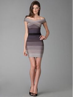 Herve Leger bandage dress.  Pricey, but wearing one makes you feel like a million bucks.
