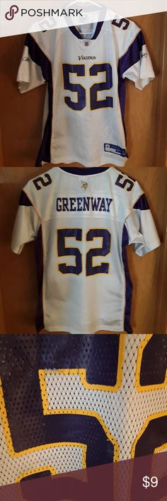 NEW Youth Minnesota Vikings Boys Turtleneck Jersey Size L 14-16 Lg Shirt Purple