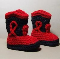 Free crocheting pattern: boots