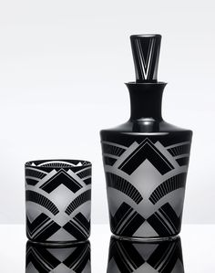 Art Deco Decanter and Glass