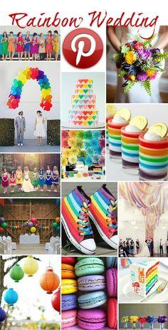 Boho Pins - Rainbow Weddings.....my look at this wonderful, bright and cheerful wedding trend.