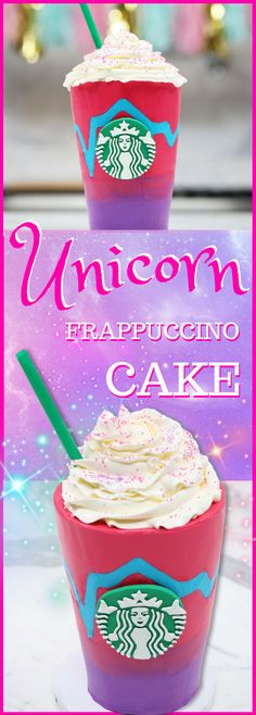 Unicorn Frappuccino Cake Recipe