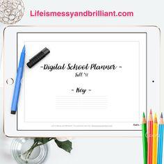 Digitale Schule-Planer digitale Planer GoodNotes Schule
