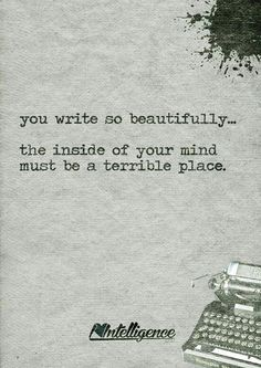 The beautiful mind of a writer