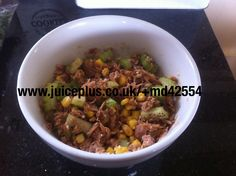 Ideal for Juice Plus meal plan. Tuna, celery, sweetcorn, sesame seeds and soy sauce.