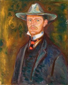 edvard munch(1863-1944), self-portrait in broad brimmed hat, 1905-06. oil on canvas, 79 x 64 cm. munch-museet, oslo, norway http://www.the-athenaeum.org/art/detail.php?ID=90032