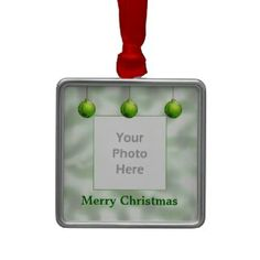 Green Christmas Ornaments (photo frame) Homemade Christmas Decorations, Christmas Crafts, Merry Christmas, Christmas Ornaments, Green Christmas, Bumper Stickers, Holiday Gifts, Presents, Mugs