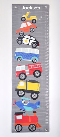 Ways to Wheel  Personalized Growth Chart by VickyBaroneDesigns, $59.00