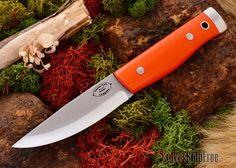 American Knife Company: Compact Forest - Blaze Orange G-10 - Black Liner