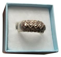 VINTAGE Sterling Silver Marcasite Ring.  Size 6. Get the lowest price on VINTAGE Sterling Silver Marcasite Ring.  Size 6 and other fabulous designer clothing and accessories! Shop Tradesy now