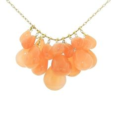 Ten Thousand Things Peach Moonstone Waterfall Necklace - 18 Karat ($2,115) ❤ liked on Polyvore
