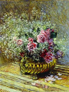 Monet - 1878 Flowers in a Pot oil on canvas 82.5 x 62 cm Private Collection