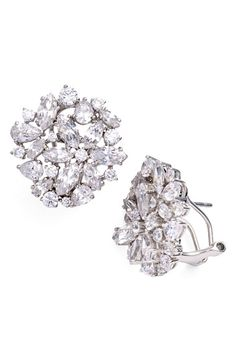 Nadri Floral Crystal Stud Earrings available at Nordstrom Great